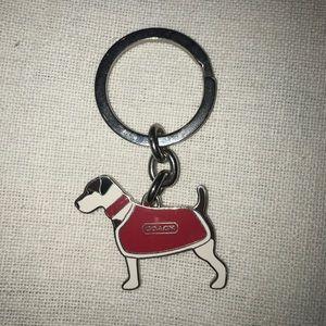 Coach silver keychain